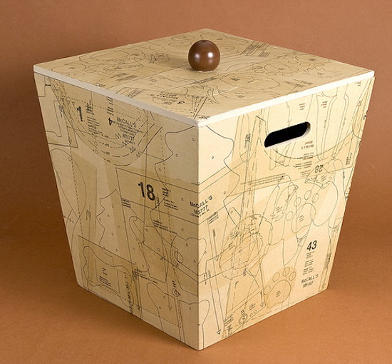 How-To: Sewing Pattern Decoupage Box