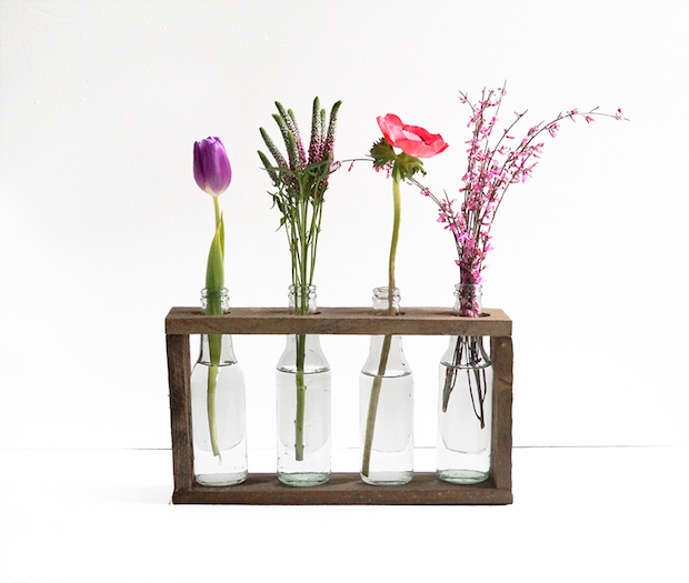 How-To: Wooden Bottle Vase Holder