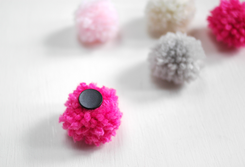 Make Your Refrigerator Magnets Into Wooly Pompoms