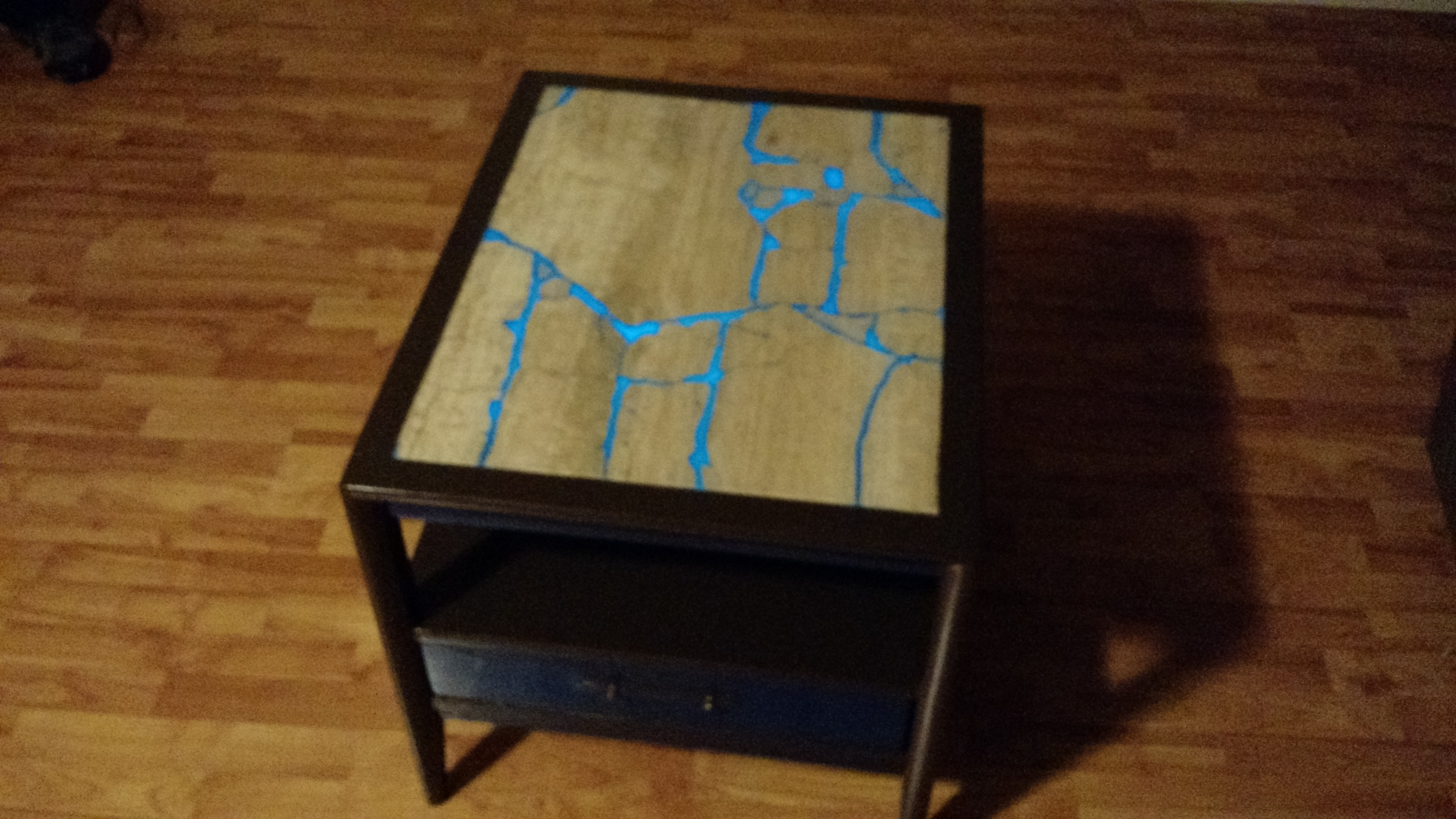 Shabby-Geek Goodwill Table Gets Glowing Makeover