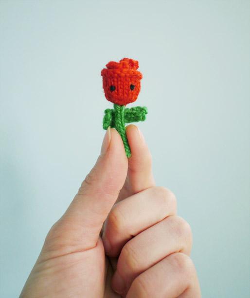 Tiny Amigurumi Rose Pattern