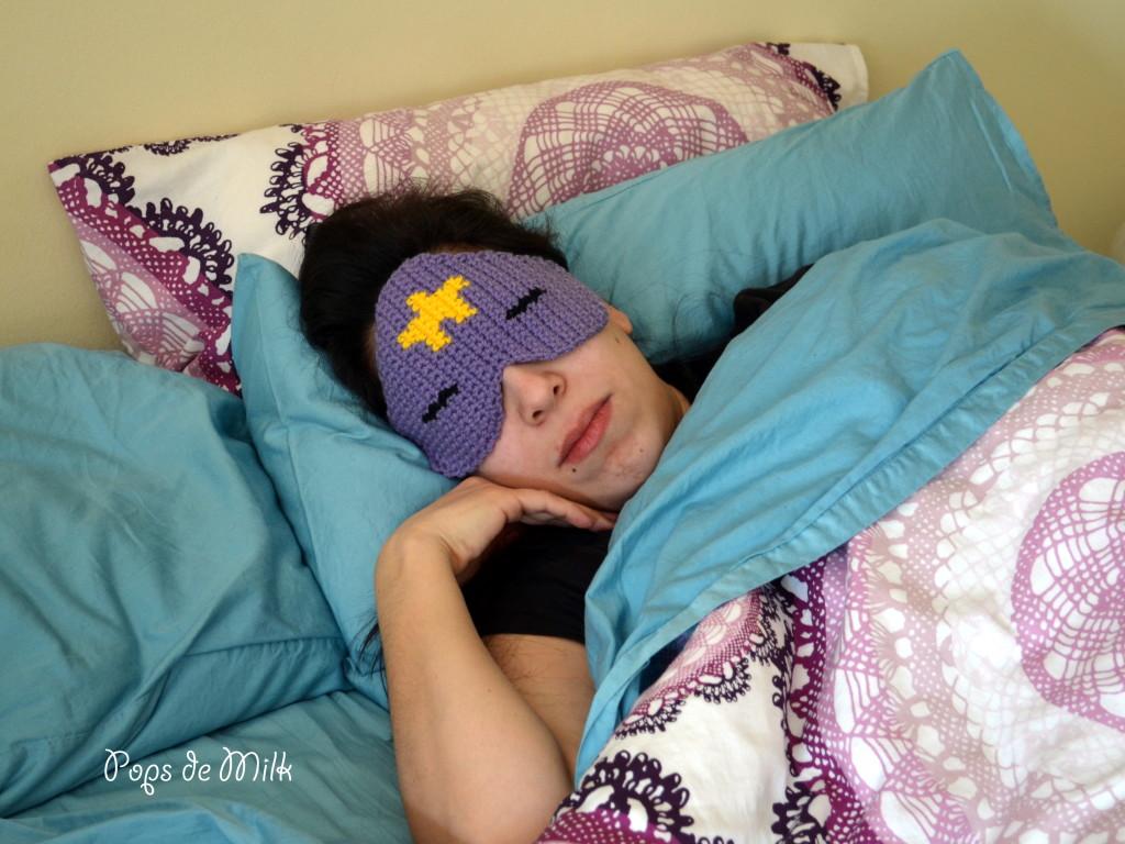 DIY Crocheted Adventure Time Sleep Mask