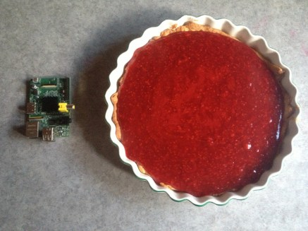 Cooking a Raspberry Pi with a Raspberry Pi Here's an interesting idea: a microwave with a connected barcode scanner that reads and executes instructions for cooking food — driven by a Raspberry Pi.
