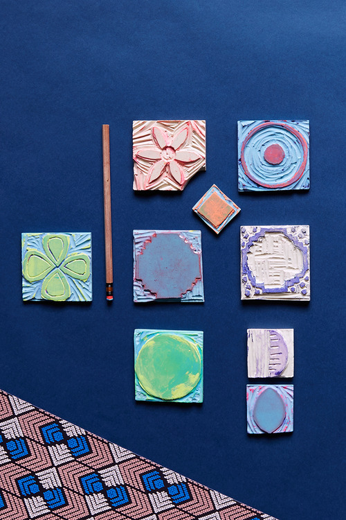 Dutch Wax-Inspired Paper Printing