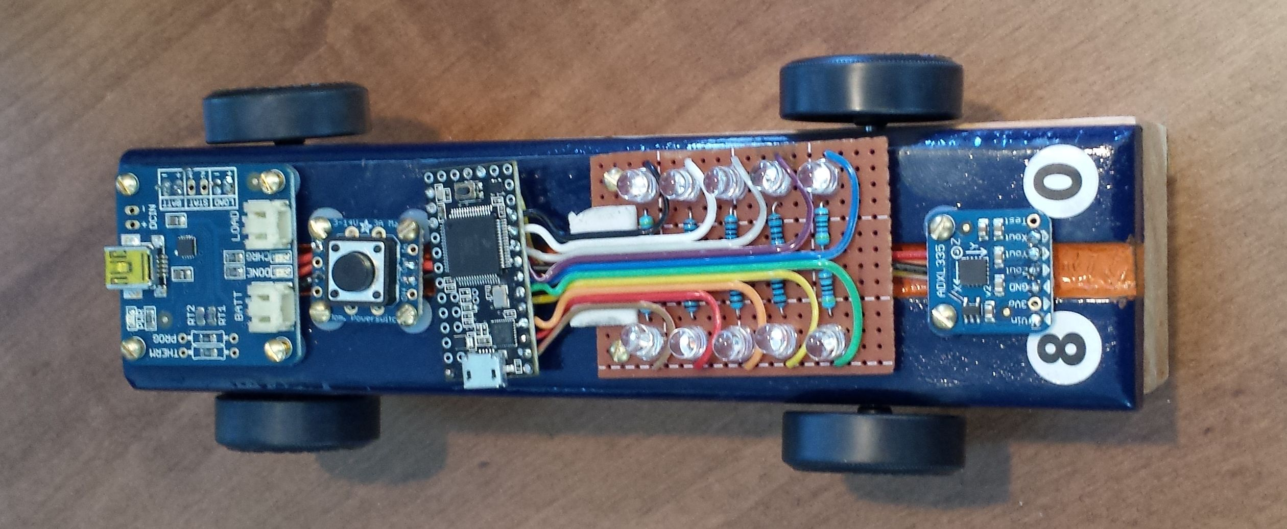Arduino Powered Pinewood Derby Race Car Make Place The Circuit Board In Cavity And Slot Battery Pack Into Figure 2