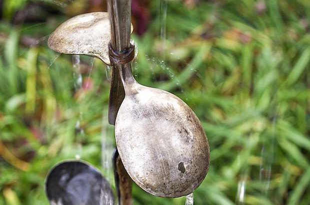 Crafty Garden: Use Spoons to Make a Rain Chain