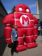 Stan Clark designs and sews giant inflatables – like our custom Makeys!