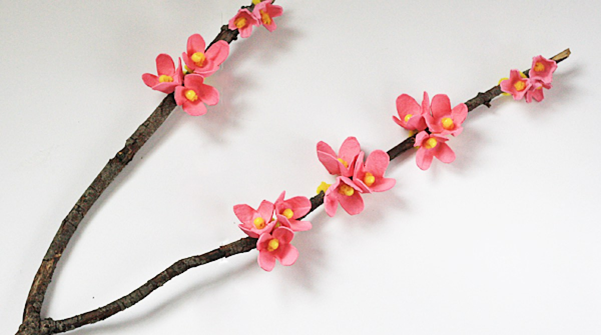 How-To: Egg Carton Cherry Blossom Branch