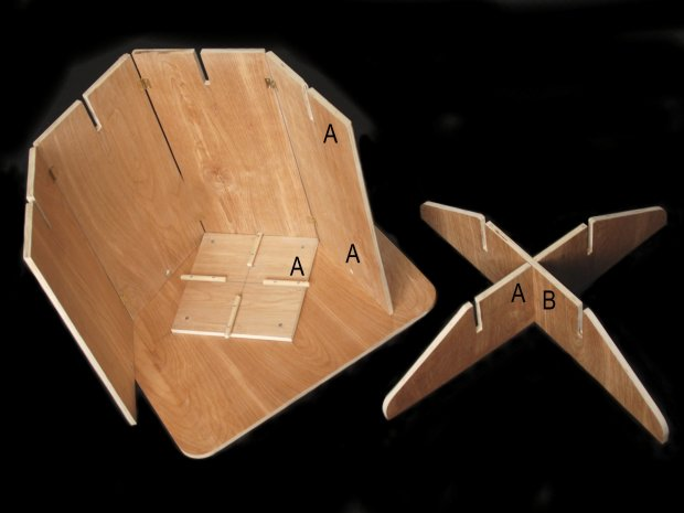 Easy Knockdown Occasional Table That Assembles In Seconds