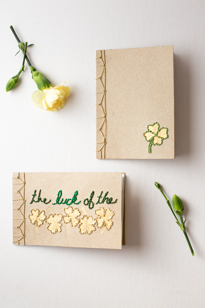 DIY Japanese Bookbinding With Embroidered Covers