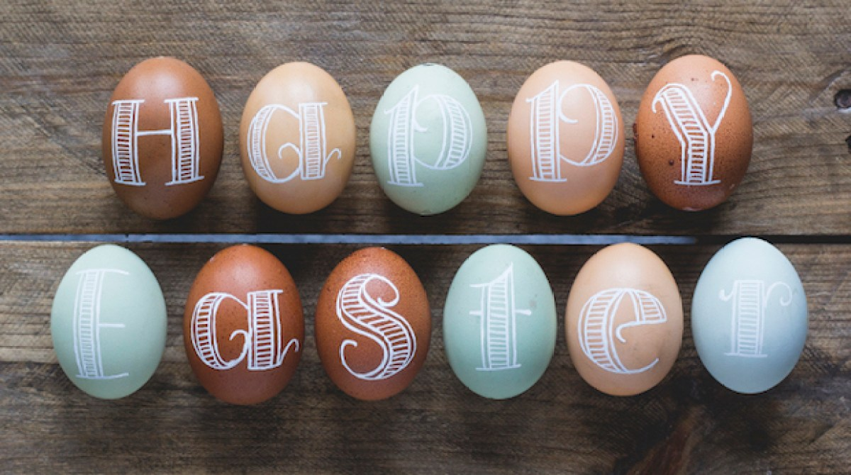 Typography Fun: Easter Egg Lettering