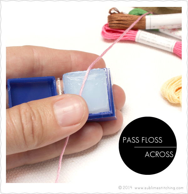 Embroidery Basics: Floss Conditioning and Floss Stripping
