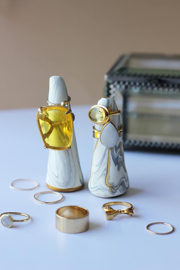 Polymer Clay Ring Cones: DIY Organization that Looks Like Art