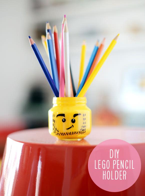 Lego Man Pencil Holder