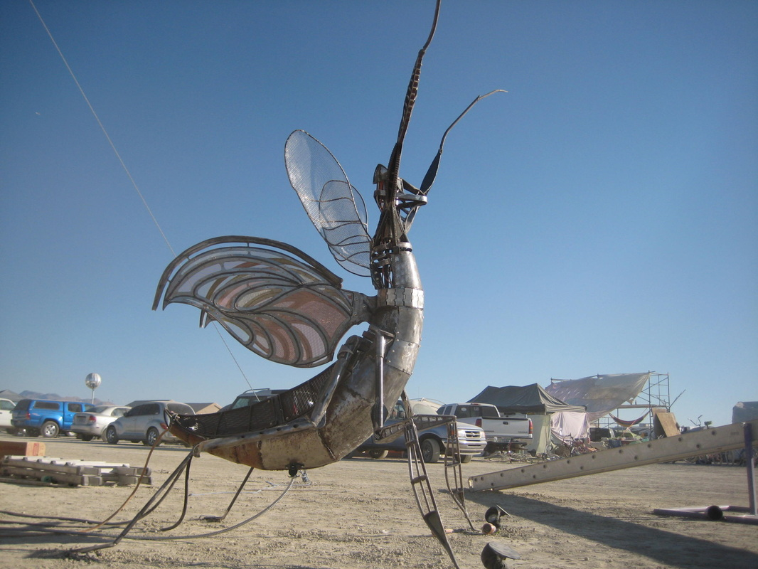 Giant Metal Insects Spouting Fire? Heck Yeah