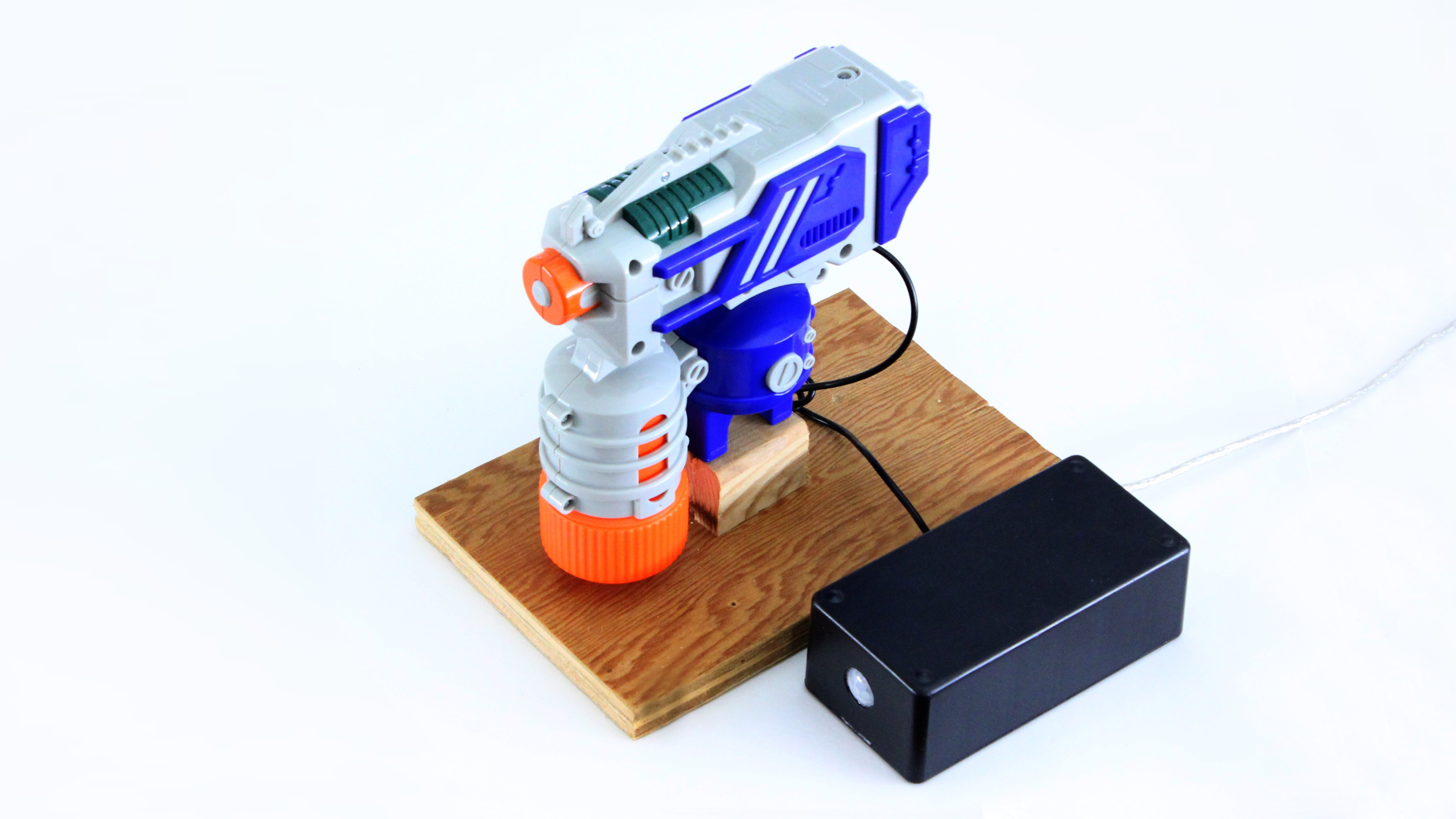 Motion Activated Water Gun Turret Make Microcontroller Based Diy Project For Power Saving Using Pir Sensor In This I Am Going To Show You How Use Motorized Nerf Guns And Automated Turrets That Can Shoot Your Friends