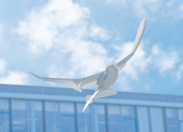 Festo's SmartBird is actually an ornithopter based on real seagull's functions when it flies through the air.