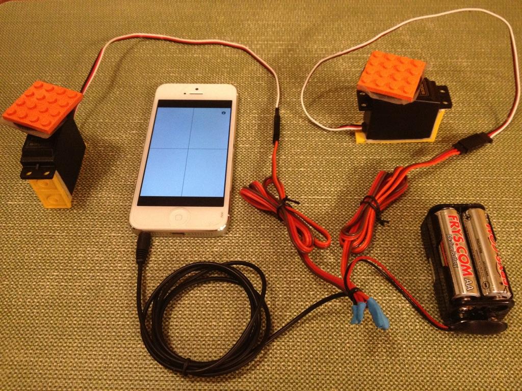 Beats Into Bots: GlueMotor Drives PWM Servos with Smartphone Audio