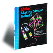 "This project is excerpted from <a href=""http://www.makershed.com/products/making-simple-robots"">Making Simple Robots</a><br /> (Maker Media 2015).<br /> On sale now."