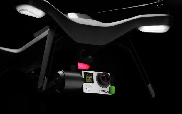 The Solo's gimbal offers the flexibility to easily swap and upgrade GoPro cameras.