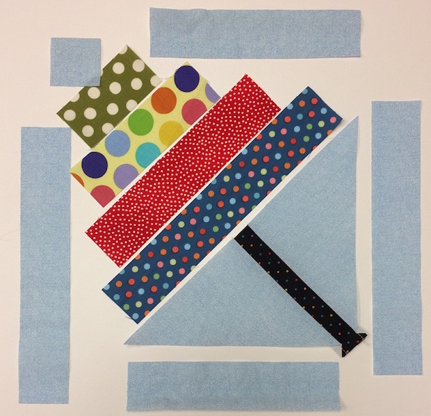 Springtime Stitches: April Showers Umbrella Quilt Block