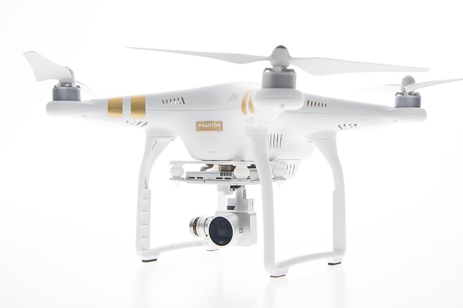 Photo of DJI Phantom 3 aerial drone.