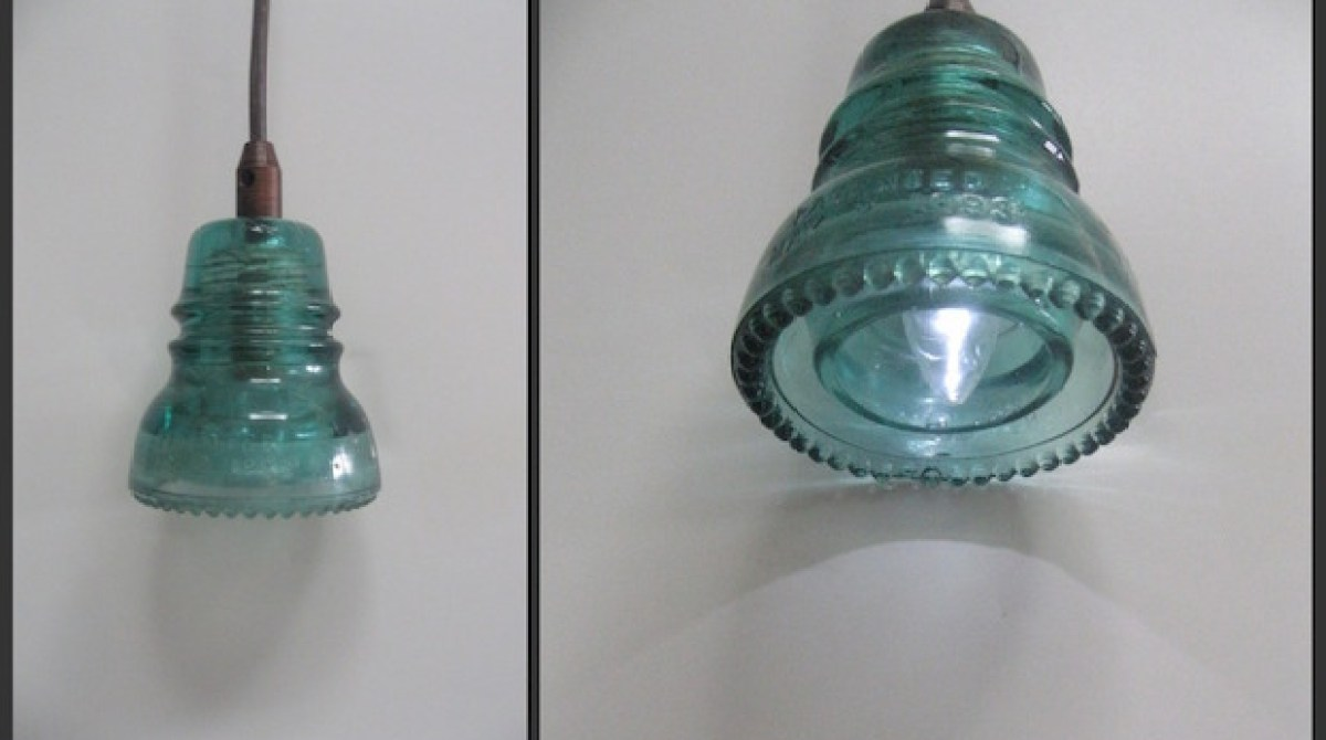 Glass from the Past: Make a Lamp With Vintage Power Line Insulators