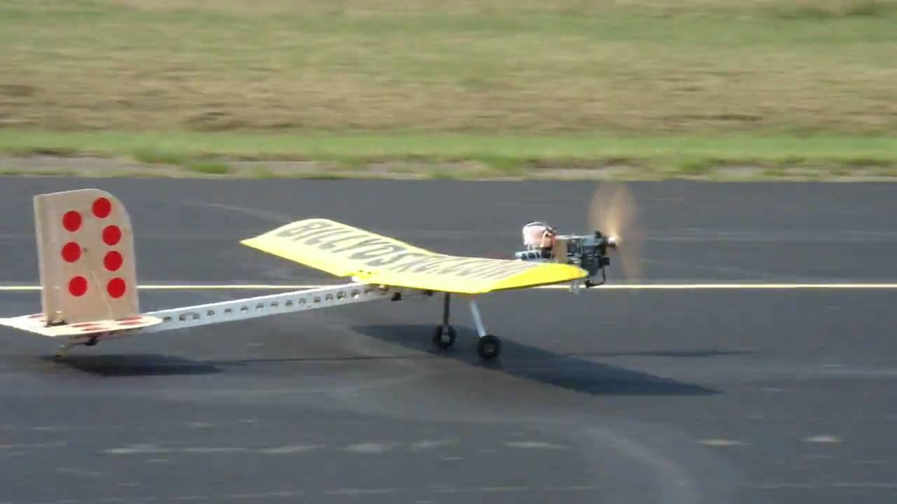 This R/C Plane Built from a Weed Whacker Actually Flies