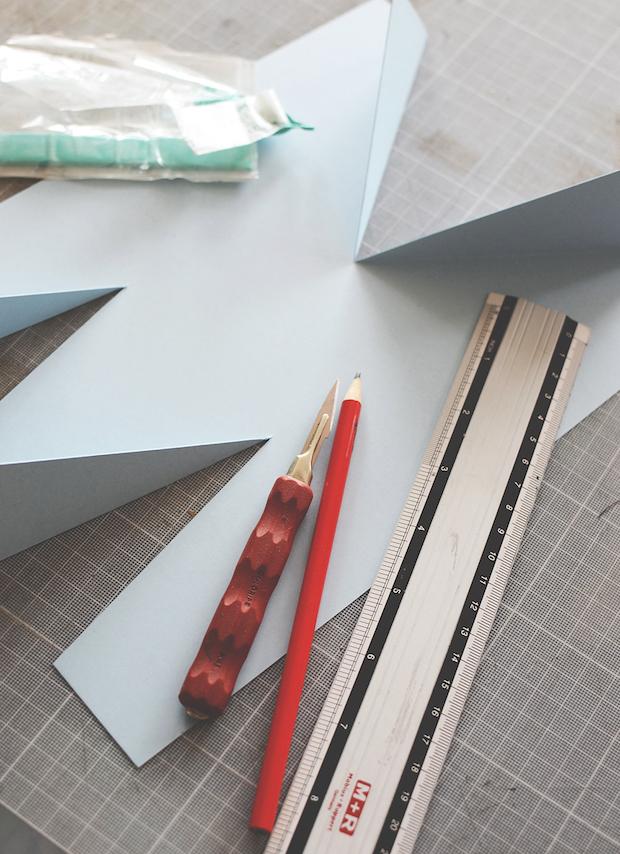 Alphabet Art: Folded Paper Letters