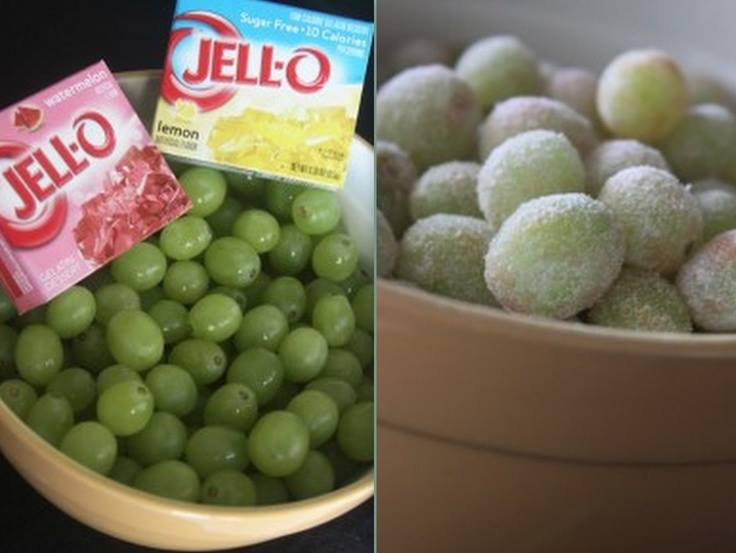 DIY Sour Patch Grapes