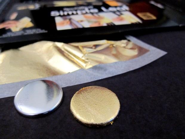 Create Easy Gold-Leaf Button Art