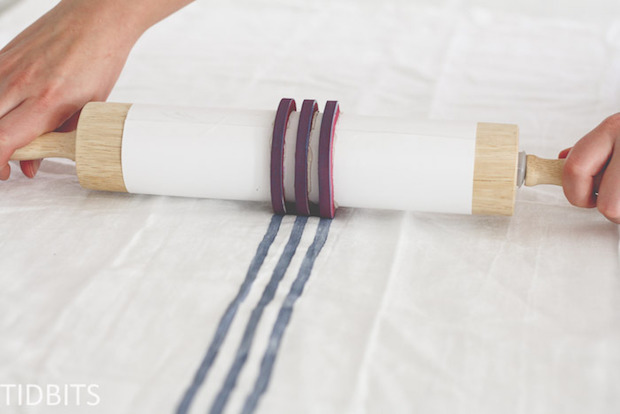 Make Your Own Striped Fabric with a DIY Grain Sack Stripe Stamp