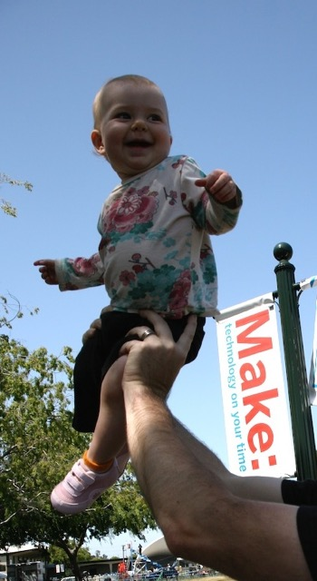 Zolie who has clearly grown up with Maker Faire.