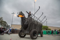Chester the Fire Breathing Horse Art Car