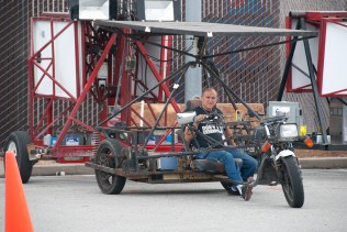 Jerrold Karmin builds solar vehicles and portable solar power stations for Burning Man.