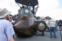 The Nautilus Submarine Art Car created by Five Ton Crane.