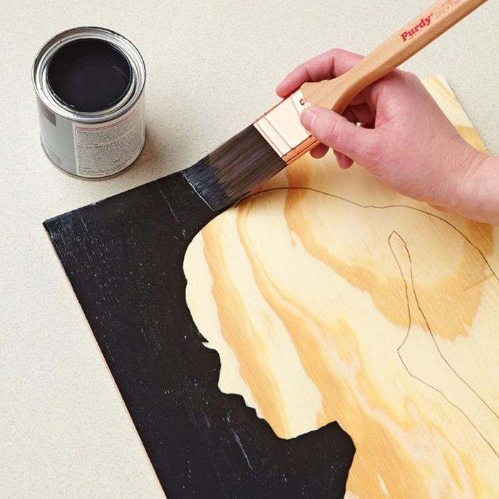 Make It for Mom: Easy Wood Grain Silhouette Portrait
