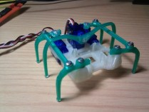 Printed Micro-Hexapod by carlosgs