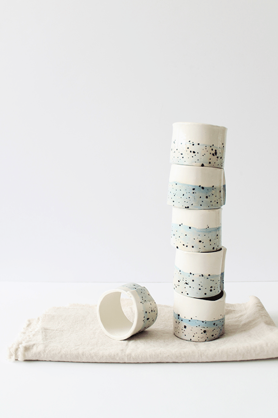 Summer Table: DIY Faux Ceramic Napkin Rings