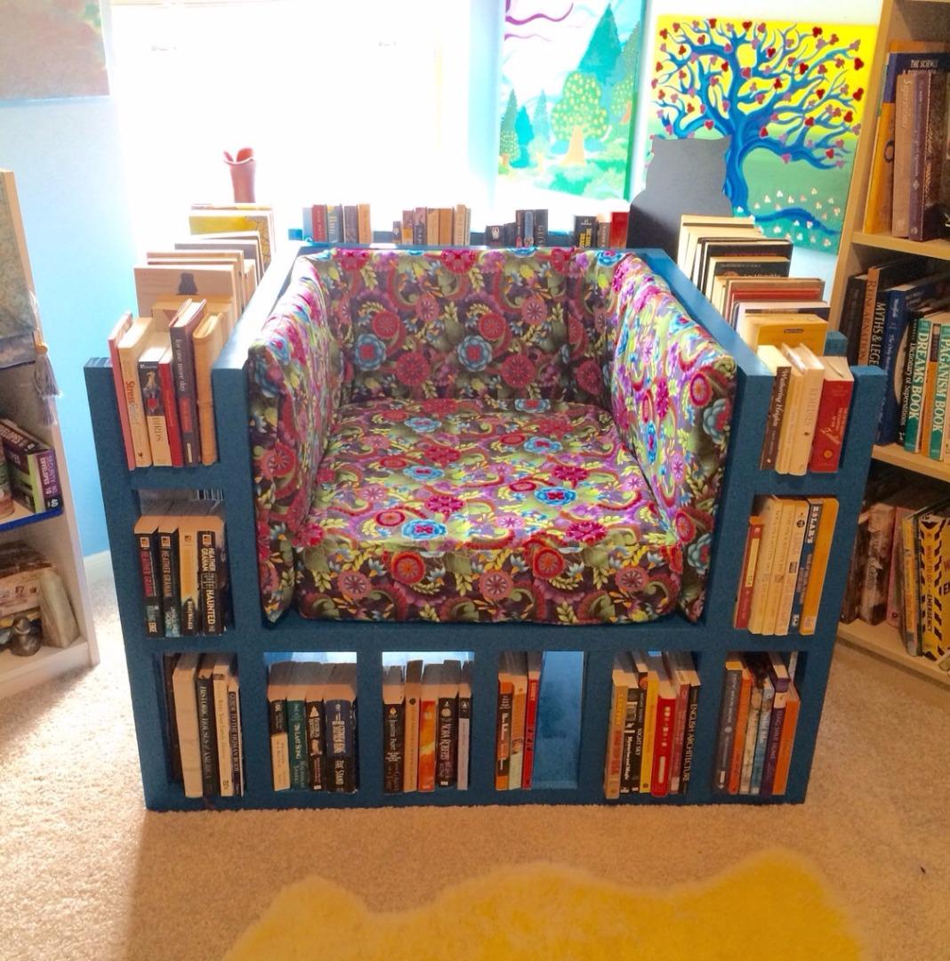 Make a Chair That's Also a Bookshelf