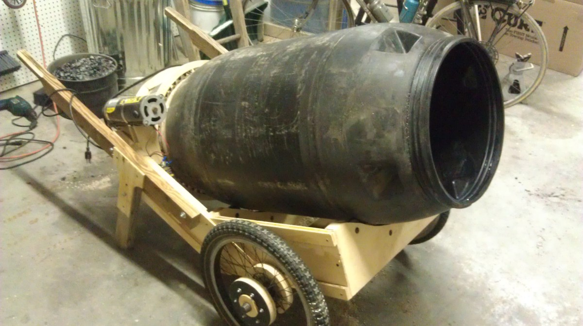 Cement Mixer Blades : Make a mobile cement mixer from pickle barrel
