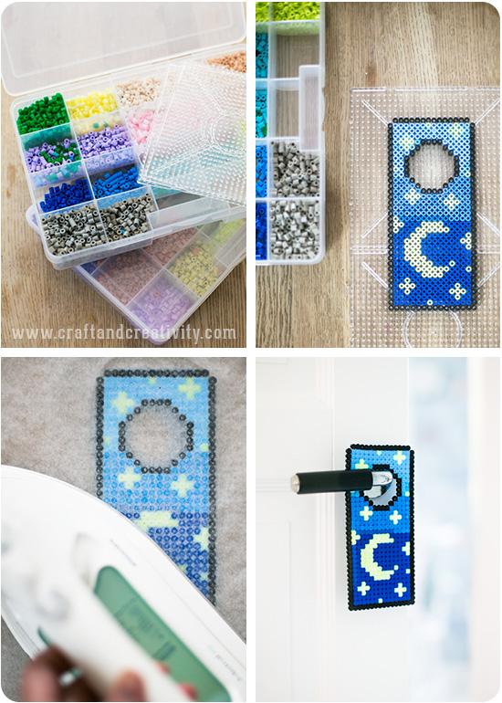 Kid Crafts: Perler Bead Doorknob Signs