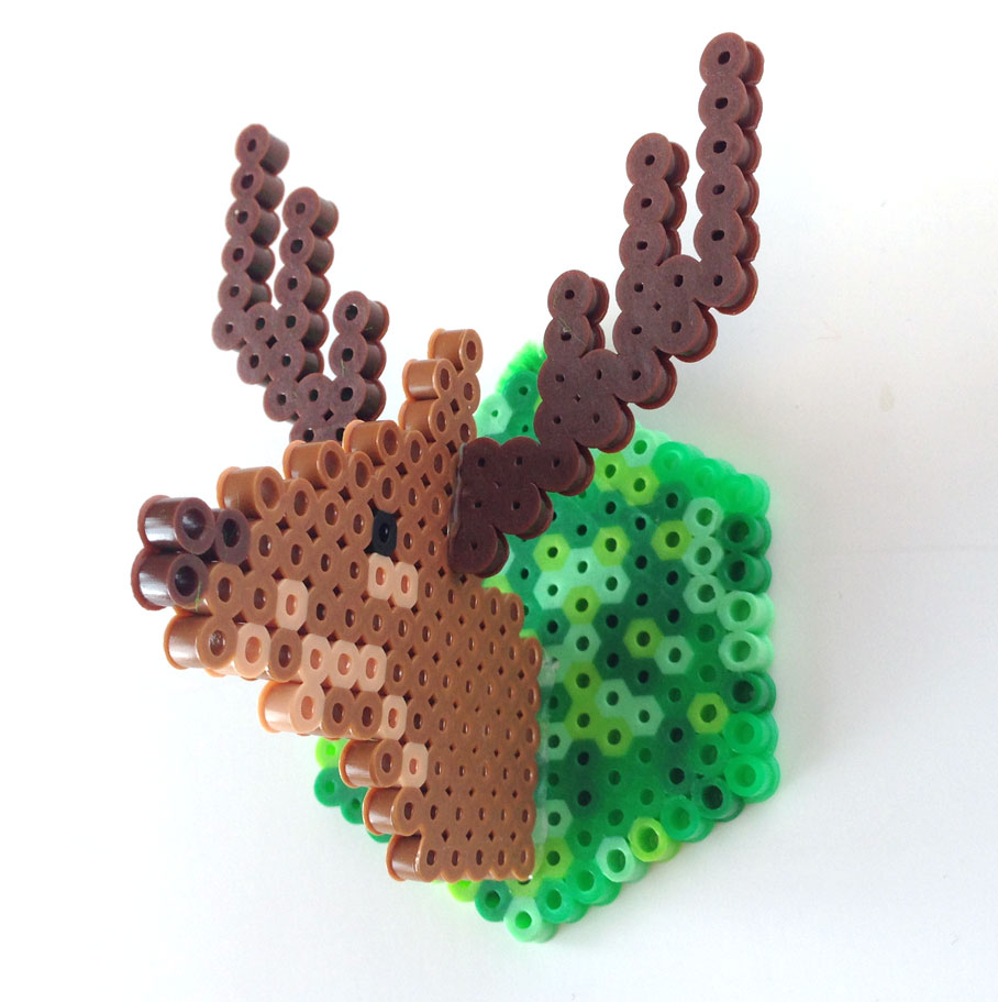 Oh Deer Make Faux Taxidermy From Perler Beads Make