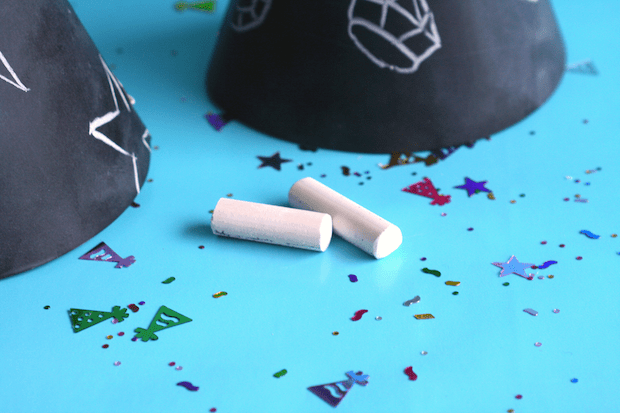 Party Crafts: Chalkboard Party Hats