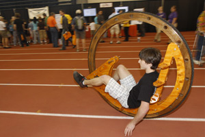 Students Build Pedal-Powered Wooden Monowheel