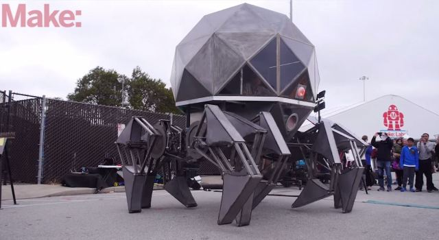 Tin Spider Marches On Massive Mechanical Legs
