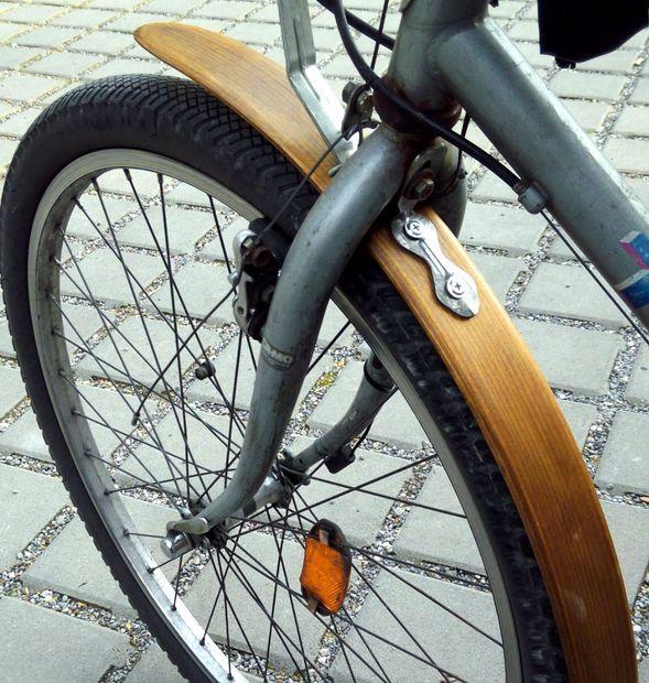 wood bike fender