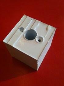 The second mold half now had a hollow plug flexible enough to de-mold.