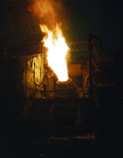 A_scene_in_a_steel_mill,_Republic_Steel,_Youngstown,_Ohio
