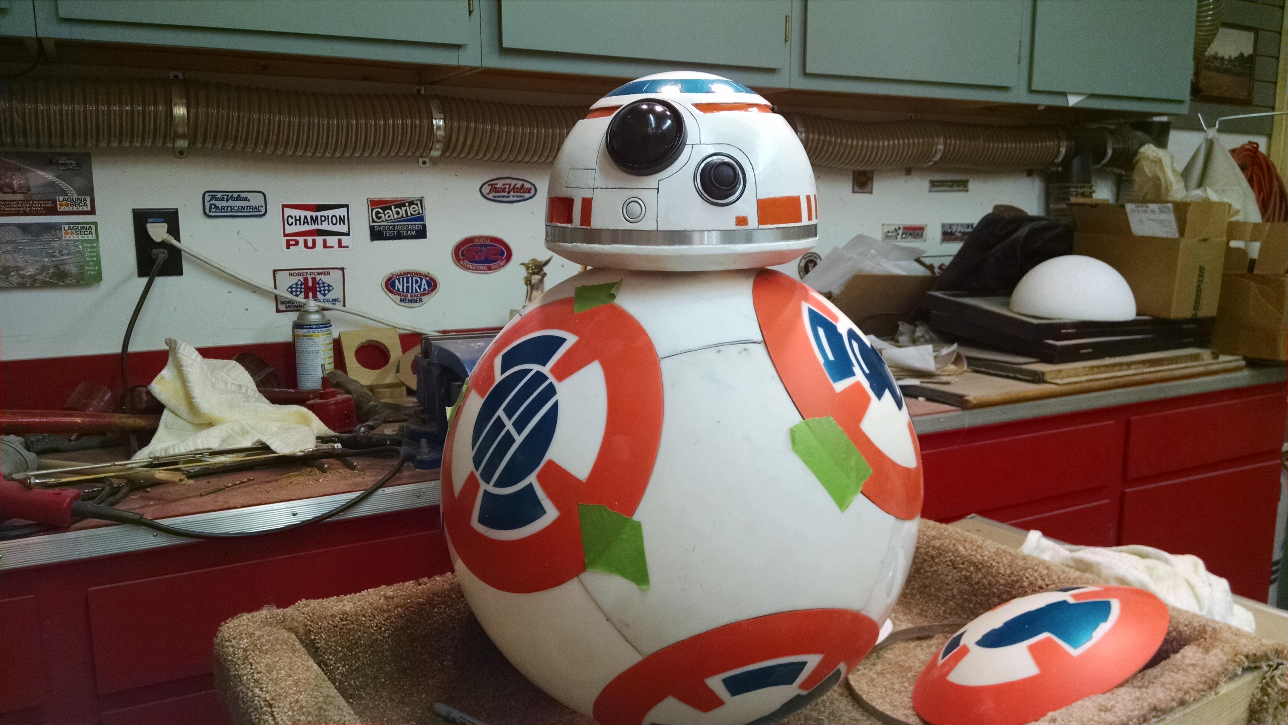 DIY Star Wars BB-8 Robot Built Using Power Wheels